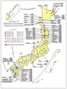 desarrollos potencialesgeotérmicos.Japon
