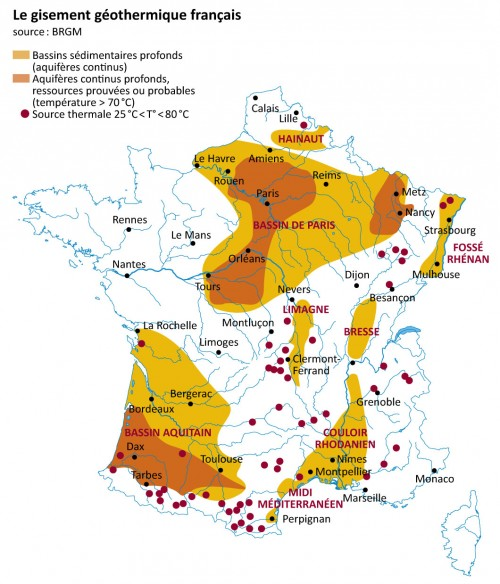 Yacimientos geotérmicos en Francia