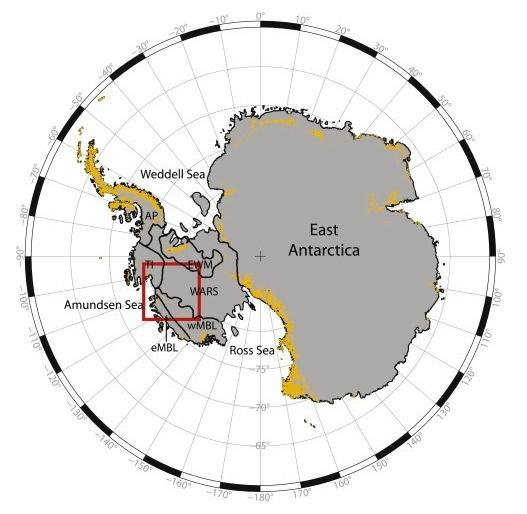 Antártida.Región estudiada